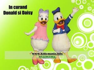 donald duck si daisy mascote disney