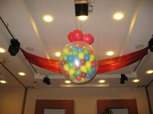 Balon Jumbo Transparent - umplut cu baloane colorate