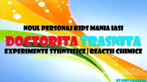 Doctorita Trasnita - experimente stiintifice in cadrul petrecerilor pentru copii in Iasi