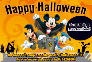 petreceri pentru copii de halloween iasi